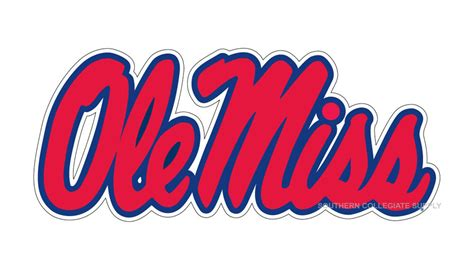 ole miss colors ole miss rebels large logo decal ebay
