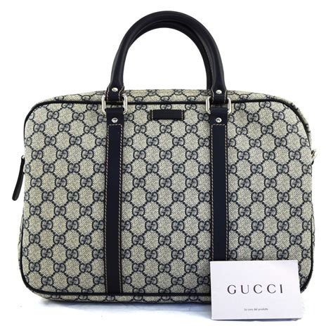 gucci gg supreme canvas briefcase dreamlux studio