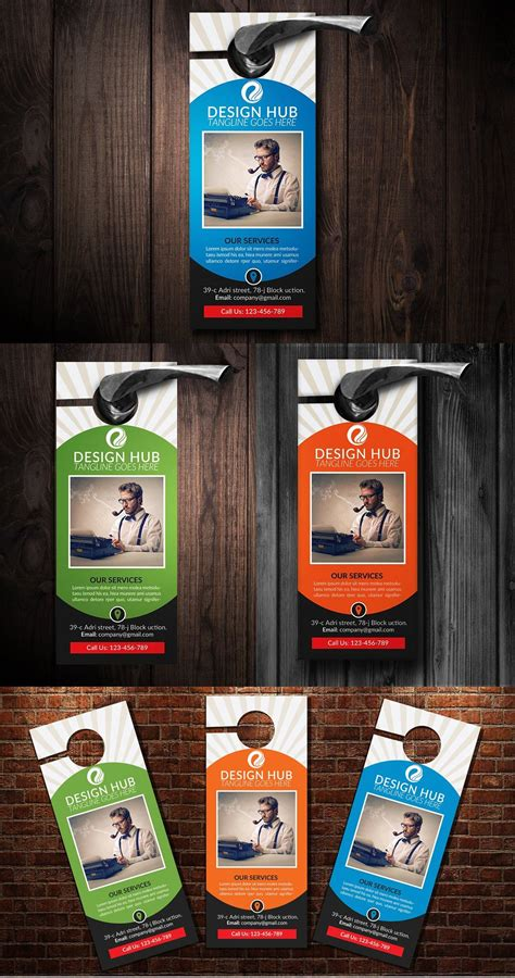 corporate business door hanger template psd door hanger