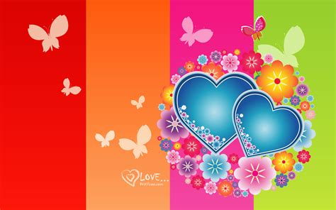 colorful wallpapers of love love heart wallpapers all2need