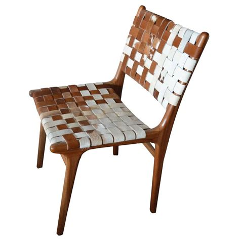 Cowhide Dining Room Chairs Andrianna Shamaris Premium Backed Teak Wood Cowhide Chair For Sale At 1stdibs
