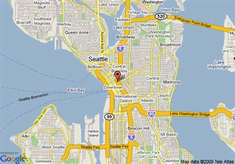 seattle hotels map downtown map of crowne plaza seattle downtown seattle