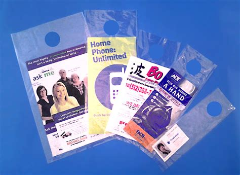 Door Knob Advertising by Clear 1 5 Mil Doorknob Marketing Bags Literature