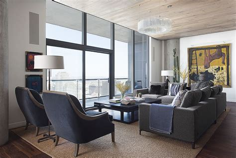 the living room austin this posh austin condo features a dining table that morphs