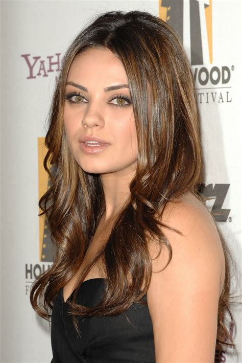 bob hair cut for round face olive skin hair style color peinados pinterest mila kunis
