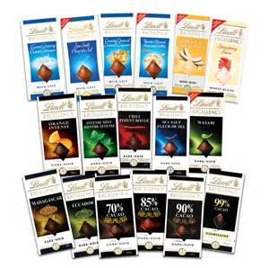 Lindt excellence bars integrated brands