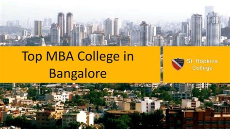 Colleges Of Bangalore For Mba by Ppt Top Mba College In Bangalore Powerpoint
