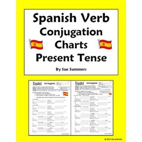 Verb Conjugation Table by Verb Tenses Chart Pdf Verb Conjugation Charts