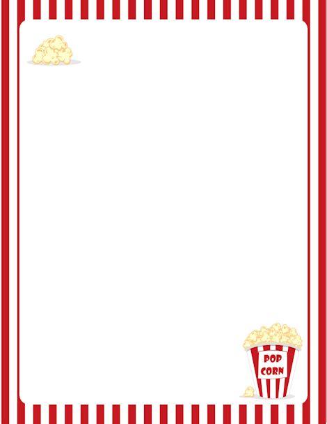 printable popcorn stationary printable popcorn border free gif jpg pdf and png