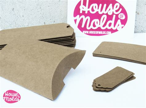 how to make paper jewelry boxes kraft paper simple blank jewelry packaging set pillow
