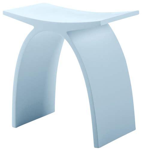 adm matte white resin bathroom stool