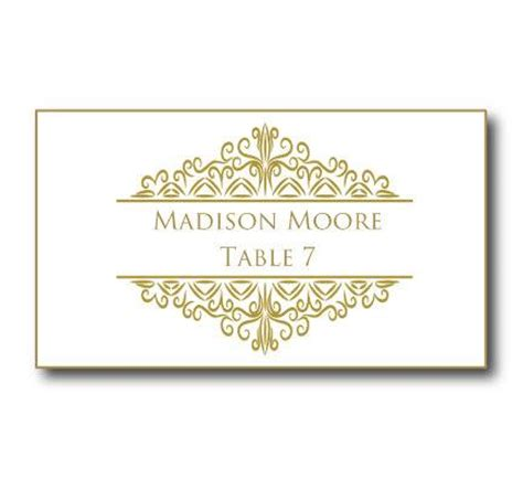 gold wedding place card template instant download editable text