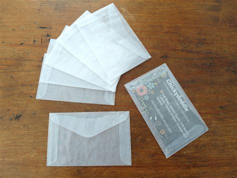 card envelope mini glassine envelopes business card envelope gift card