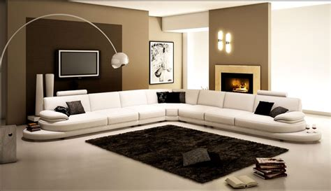 arrange a living room with large sectional sofas the