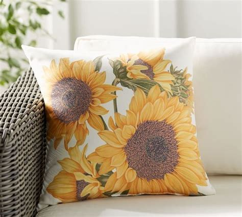 Sunflower Rug Pottery Barn by Botanical Sunflower Indoor Outdoor Pillow Pottery Barn