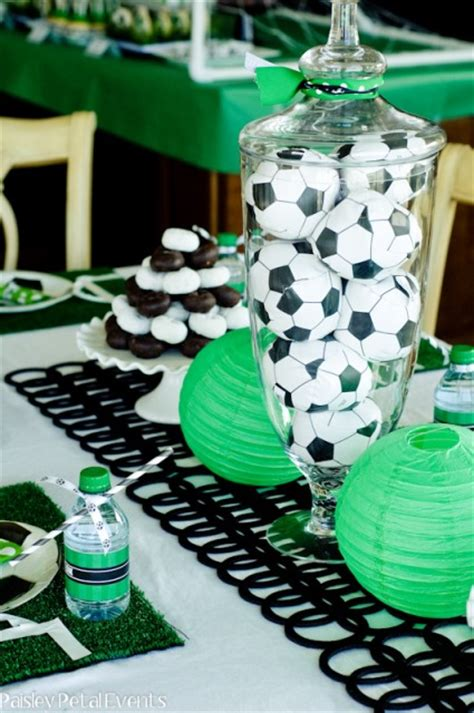 Soccer Ball Centerpieces B Lovely Events Soccer Banquet Centerpiece Ideas