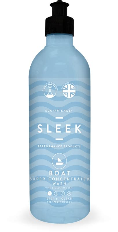 Sleek Bottle 500ml sleek concentrated boat wash 500ml powerful all