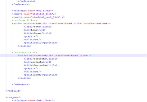 How To Change A Header For The Magento Cms Or Module Page | magento how to edit header links template monster help