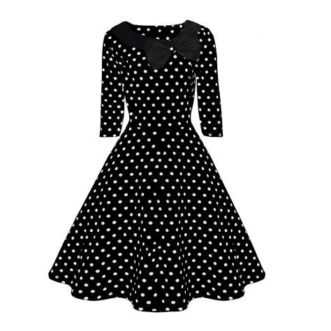 black and white polka dot swing dress 50s rockabilly white black polkadot swing dress 10 20 ebay