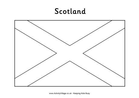 scottish flag colouring page st andrew s day printable