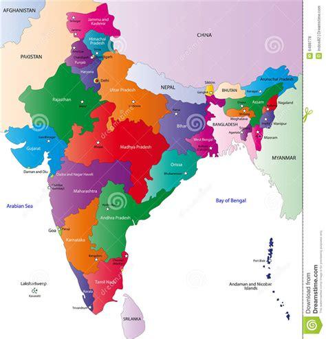 India Outline Map Coloured by Carte De L Inde Illustration De Vecteur Image Du Gris 6488778