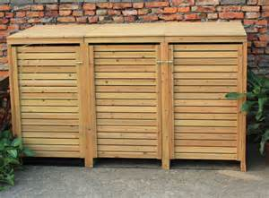 bentley garden wooden outdoor wheelie bin storage shed