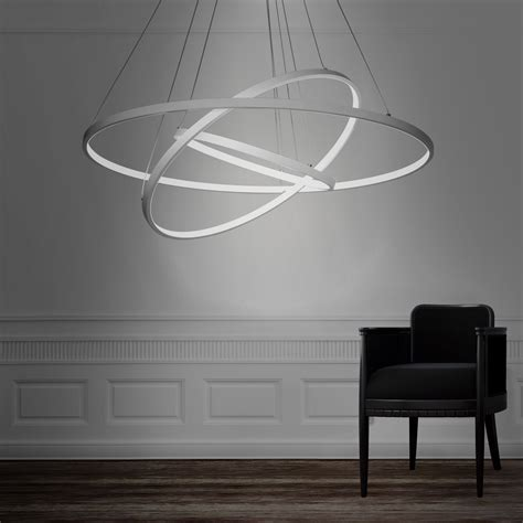 moderne leuchten modern 3 rings large led pendant light 187 petagadget