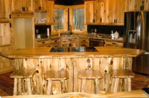 rustic log kitchen bath