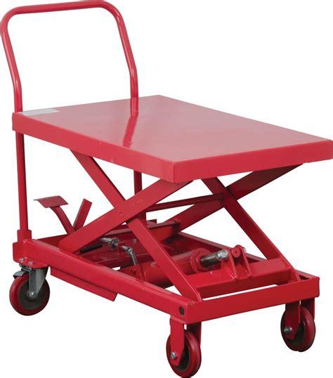 hydraulic lift table cart 660 lb hydraulic lift table cart scissor lift table