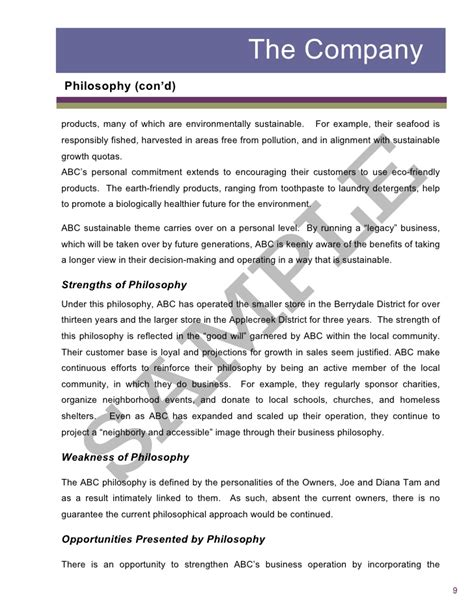business sustainability report template sle2 report business assessment