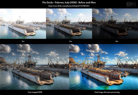 hdr in hdr cookbook before and after the docks palermo