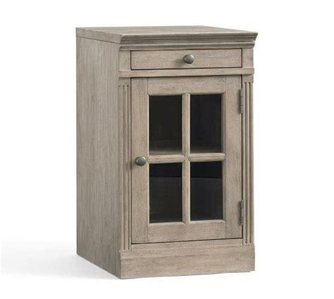 livingston single glass door cabinet pottery barn
