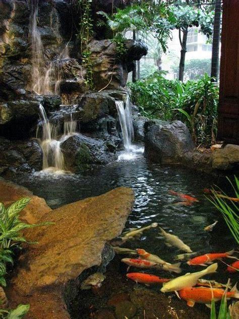 koi garden pond with waterfall koi koi ponds pinterest