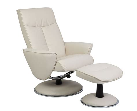 european recliner with ottoman mac motion euro recliner and ottoman in snow bonded