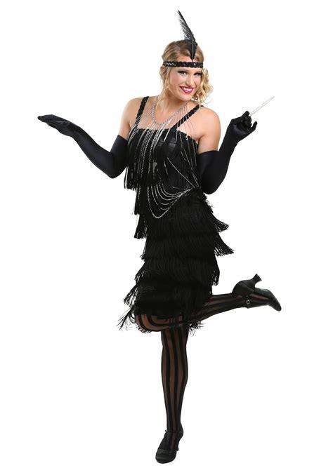 Costume Hallowen Black 1 black charleston flapper dress