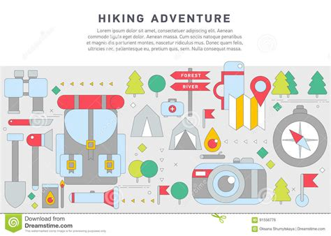 doodle 4 my adventure doodle design illustration of hiking stock vector image