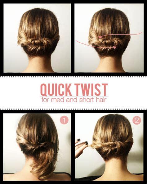 diy twist for to medium hair hairstyle fabdiy