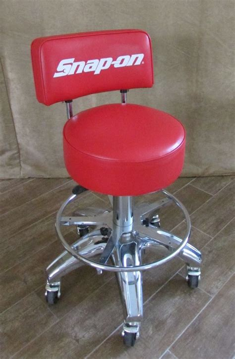 Adjustable Rolling Stool With Back by Snap On Rolling Stool Back Chair Tools Shop Cave