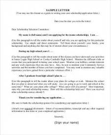Scholarship Letter Sle For High School 10 Sle College Application Letters Free Premium Templates