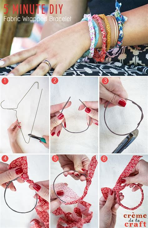 diy fashion craft ideas 5 minute diy fabric wrapped bracelets