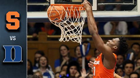 syracuse  duke basketball highlights   youtube
