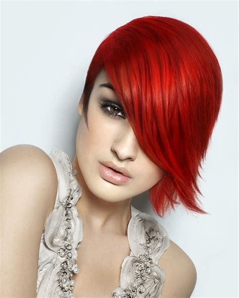 Trendy Cuts For Vibrant Red Hair   vibrant hair color ideas 2012