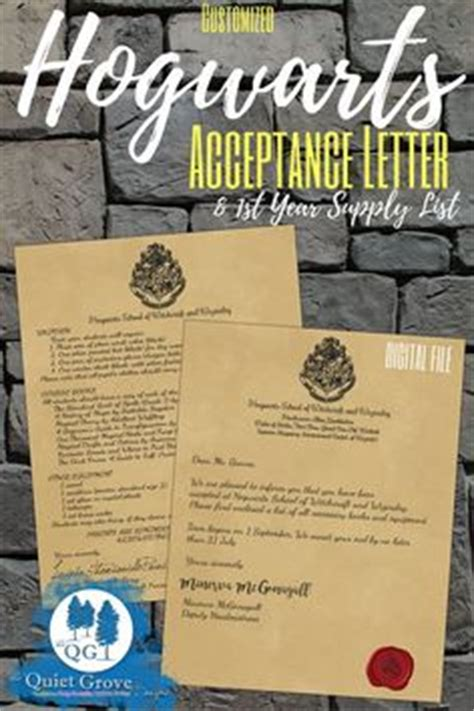 Hogwarts Acceptance Letter List Of Supplies Hogwarts School Supply List Back To School Supply List Hogwarts And School