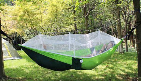 swinging tent double hammock with mosquito net garden swing hanging