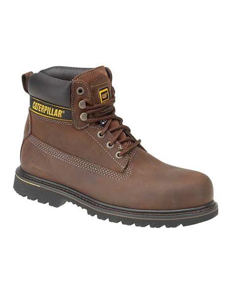 caterpillar holten safety boot brown