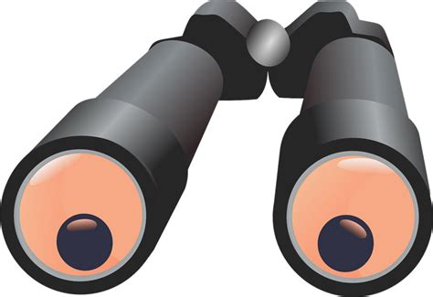 Free To Use Clipart - free to use domain binoculars clip
