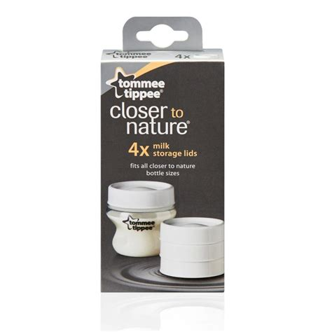 Tommee Tippee Milk Storage Lids tommee tippee 43136171 closer to nature range milk storage lids for bottles new ebay