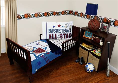 basketball toddler bed basketball toddler bedding set 3pc all star sports