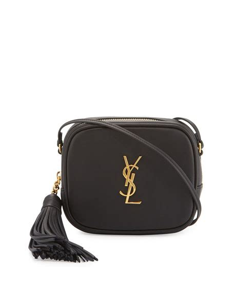 saint laurent monogram blogger crossbody bag black