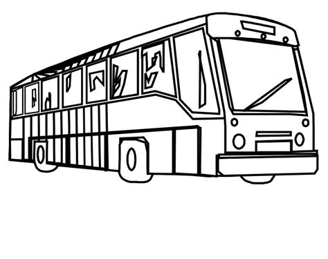 free coloring pages of bus